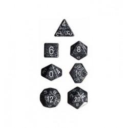 Brick Box of 7 Dices - D4 D6 D8 D10 D12 D20 Spots - Chessex - Speckled - Ninja Camo