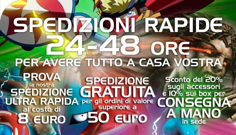 Spedizioni Rapide, 24-48 ore per avere tutto a casa vostra! Gratuita sopra 50€ di ordine!