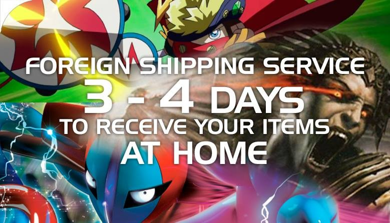 Fast Shipping Service, 3-4 days to receive your items at Home!