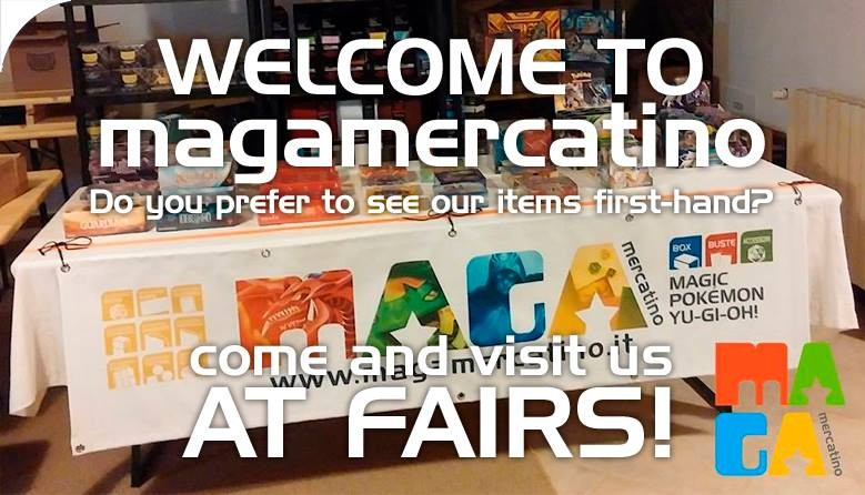Welcome to MagaMercatino. Do You prefer to see our items first-hand? Come and visit us at Fairs!